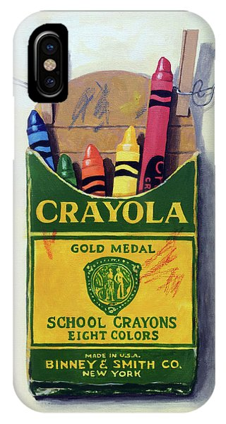 Box Of Crayons Painting IPhone Case