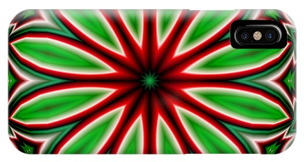 Crazy Christmas Flower IPhone Case