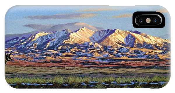 Morning iPhone Case - Crazy Mountains-morning by Paul Krapf