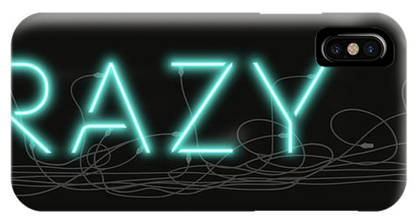 Crazy - Neon Sign 1 IPhone Case