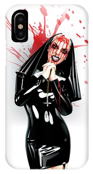 Crazy Nun IPhone Case