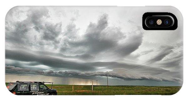 Crazy Shelf Cloud Near Ponteix Sk. IPhone Case