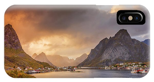 Crazy Sunset In Lofoten IPhone Case