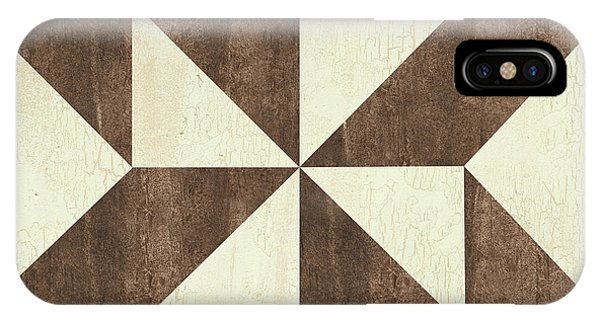 Cream And Brown Quilt IPhone Case