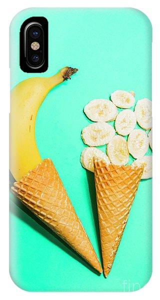 Tasty iPhone Case - Creative Banana Ice-cream Still Life Art by Jorgo Photography - Wall Art Gallery