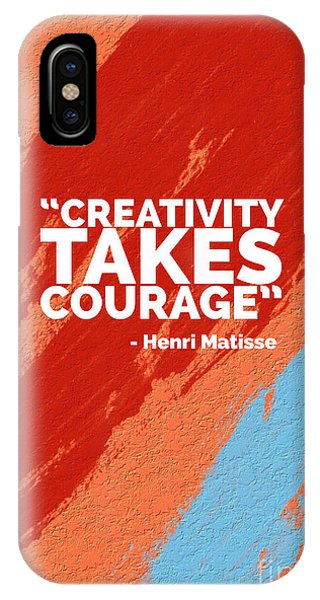 Office iPhone Case - Creativity Takes Courage by Edward Fielding