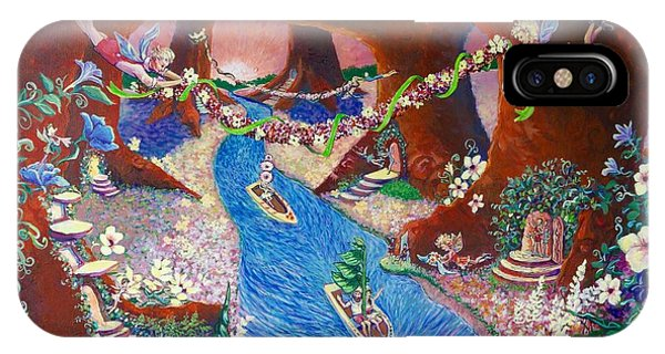 IPhone Case featuring the painting Creekside Fairy Celebration by Jeanette Jarmon