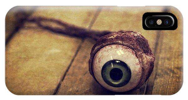 Edward iPhone Case - Creepy Eyeball by Edward Fielding
