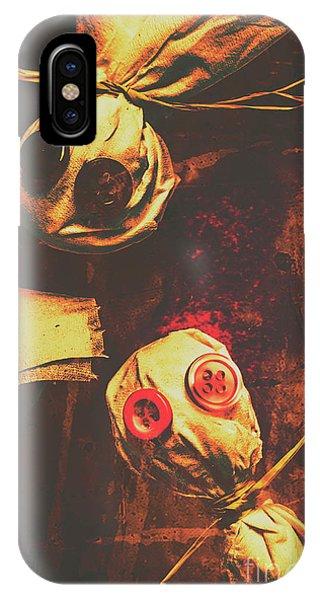Creepy Halloween Scarecrow Dolls IPhone Case