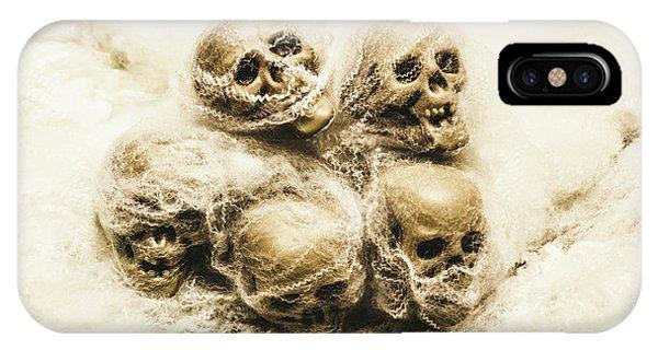 Creepy Skulls Covered In Spiderwebs IPhone Case