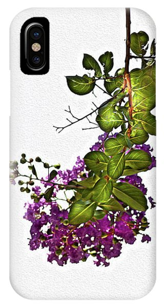 Crepe Myrtle In Oil IPhone Case