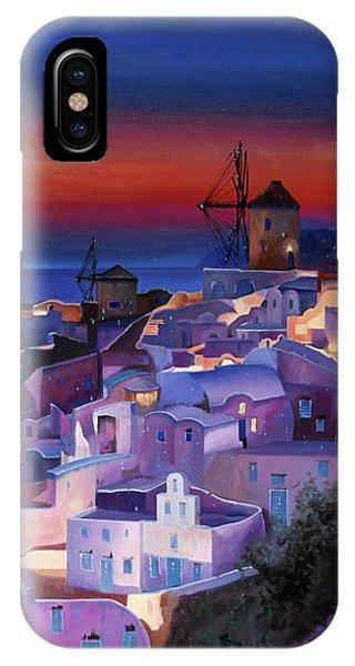 Blue And White iPhone Case - Crepuscolo Tra I Mulini by Guido Borelli
