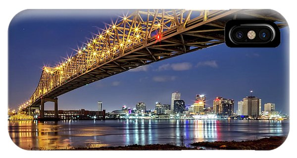 Crescent City Bridge, New Orleans IPhone Case