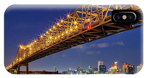 Crescent City Bridge, New Orleans, Version 2 IPhone Case