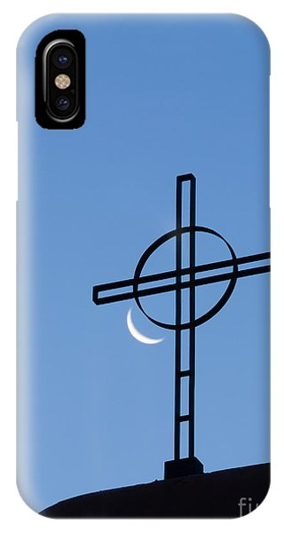 Crescent Moon And Cross IPhone Case