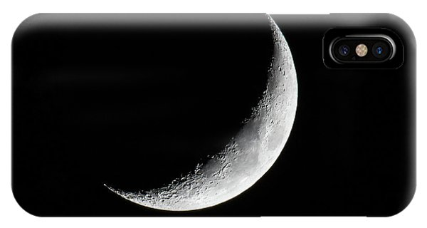 IPhone Case featuring the photograph Crescent Moon by Darryl Hendricks