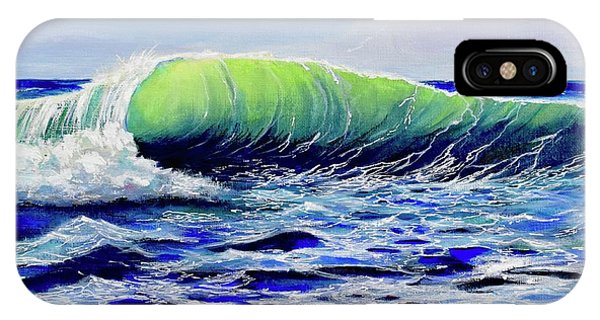IPhone Case featuring the painting Cresting Wave by Mary Scott