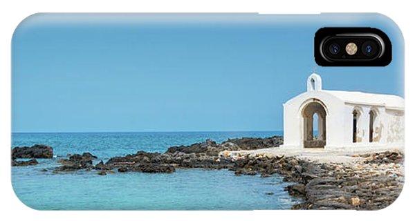 Chapel iPhone Case - Cretan Chapel by Delphimages Photo Creations