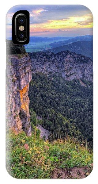 Creux-du-van Or Creux Du Van Rocky Cirque, Neuchatel Canton, Switzerland IPhone Case