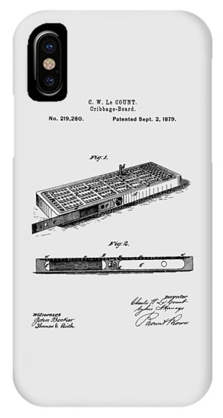 Cribbage Board 1879 Patent Art Transparent IPhone Case
