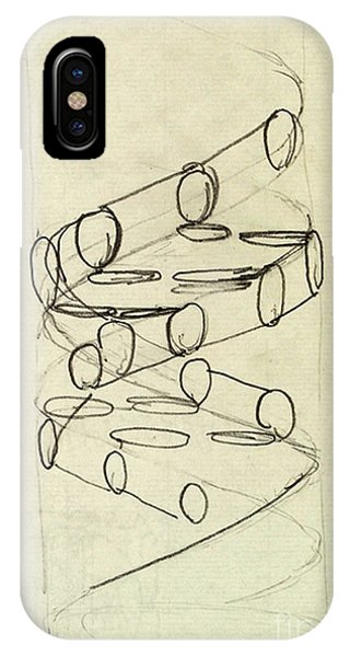 Cricks Original Dna Sketch IPhone Case