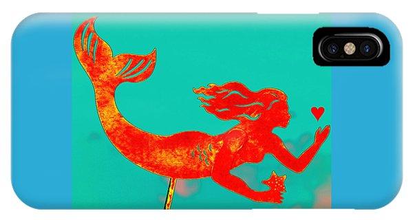 Crimson Mermaid IPhone Case