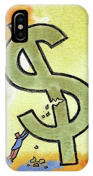 Debts iPhone Case - Crisis And Money by Leon Zernitsky