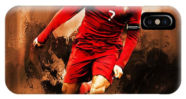 Borussia Dortmund iPhone Case - Cristiano Ronaldo 08 by Gull G