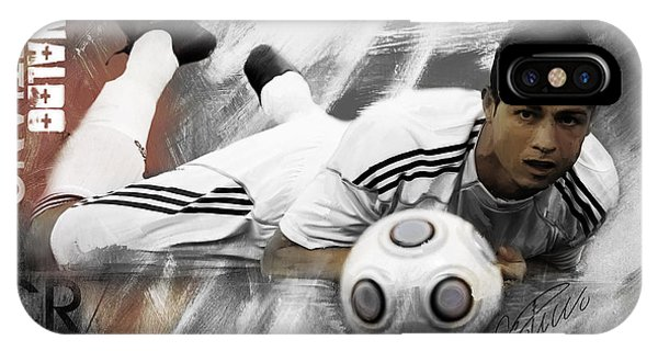 Borussia Dortmund iPhone Case - Cristiano Ronaldo 093 by Gull G