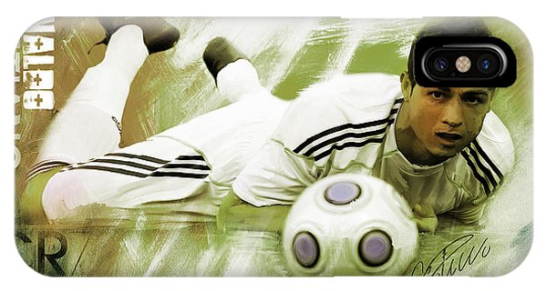 Borussia Dortmund iPhone Case - Cristiano Ronaldo 093h by Gull G