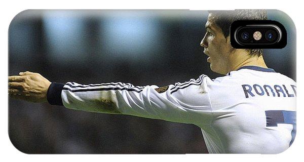 Cristiano Ronaldo iPhone Case - Cristiano Ronaldo 32 by Rafa Rivas