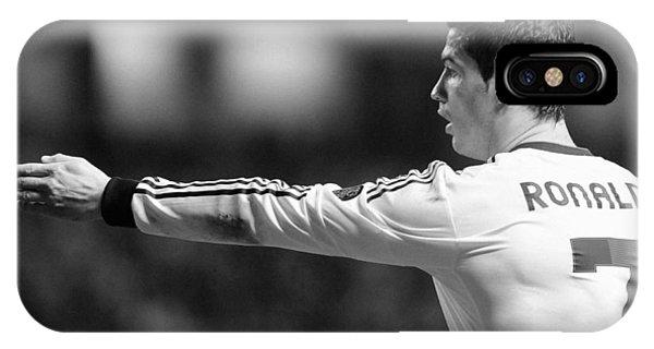 Cristiano Ronaldo iPhone Case - Cristiano Ronaldo 37 by Rafa Rivas
