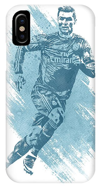Cristiano Ronaldo iPhone Case - Cristiano Ronaldo Real Madrid Water Color Art 1 by Joe Hamilton