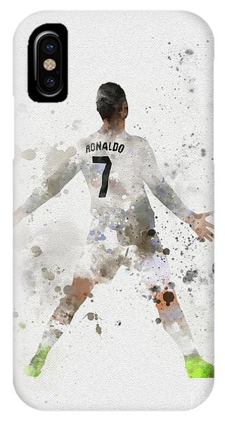 Soccer iPhone Case - Cristiano Ronaldo by Rebecca Jenkins