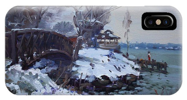 Waterscape iPhone Case - Cristmas Eve In Niawanda Park by Ylli Haruni