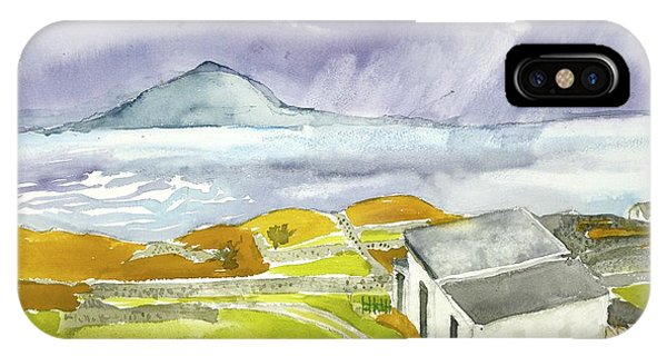 Croagh Patrick And Purple Sky IPhone Case