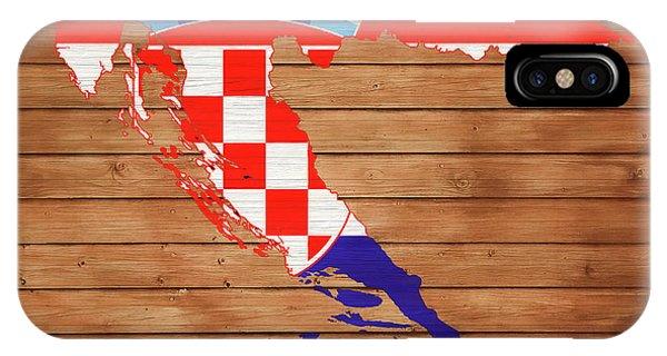 Traveler iPhone Case - Croatia Rustic Map On Wood by Dan Sproul