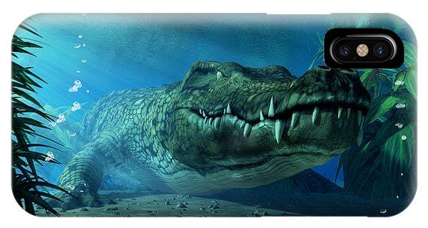 Crocodile iPhone Case - Crocodile by Daniel Eskridge