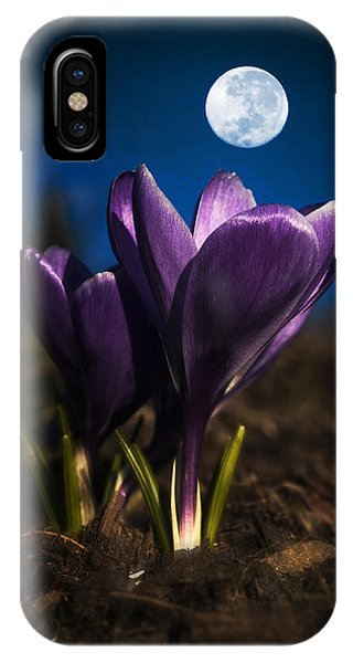 Crocus Moon IPhone Case