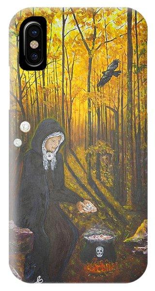Crone Goddess Keridwen - Samhain IPhone Case