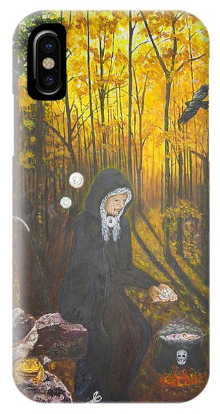 Crone Goddess Keridwen - Samhain IPhone Case