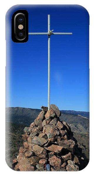 Cross On Fremont Peak IPhone Case
