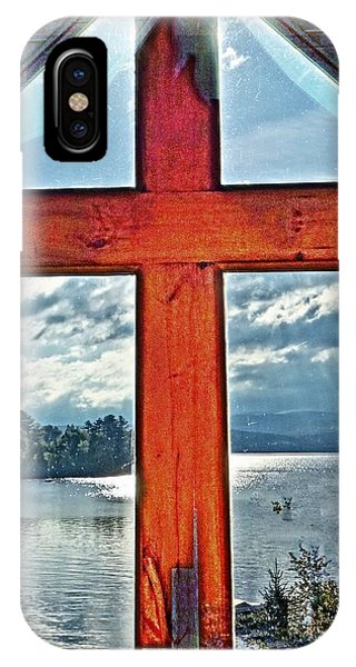 Cross Window Lake View  IPhone Case