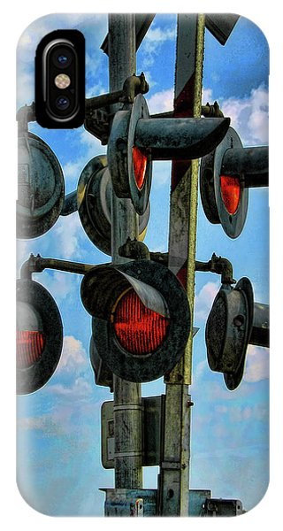 Railroad Signal iPhone Case - Crossed Signals by Wendy J St Christopher