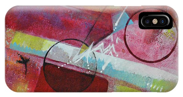 IPhone Case featuring the painting Crossing The Line by Kate Word