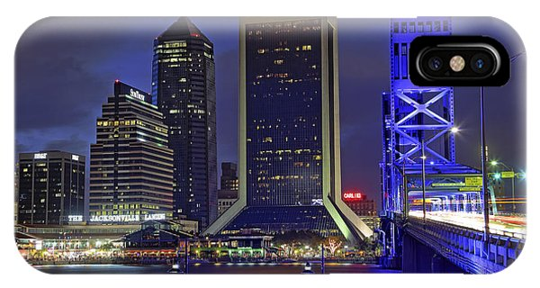 Crossing The Main Street Bridge - Jacksonville - Florida - Cityscape IPhone Case