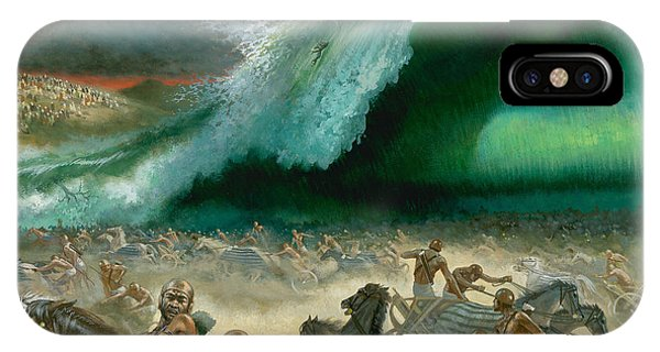 Tidal iPhone Case - Crossing The Red Sea by Anonymous