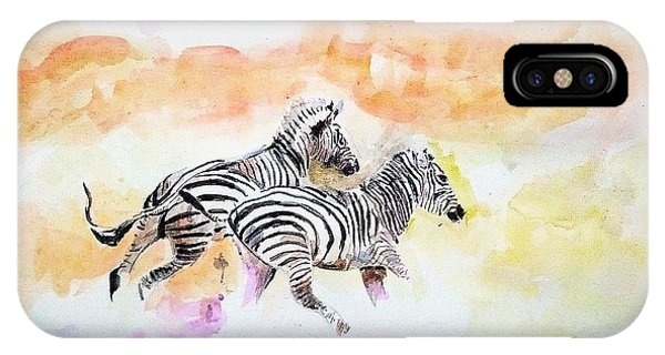 Crossing The River. IPhone Case