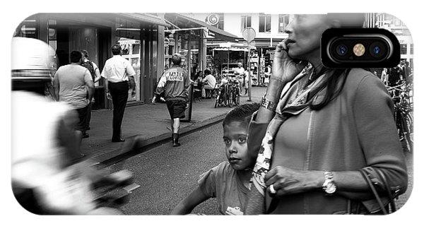 Crossing The Street Mono Phone Case by John Rizzuto