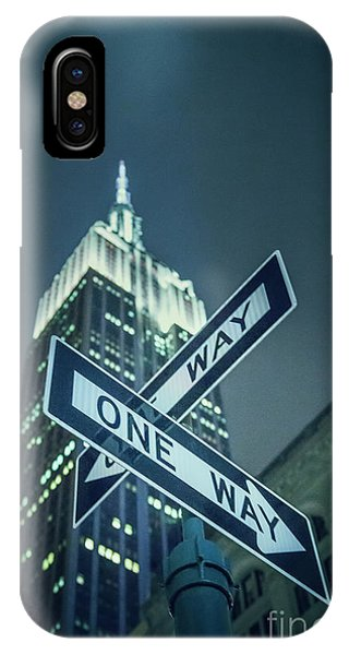 Street Sign iPhone Case - Crossroads by Evelina Kremsdorf